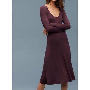 Aritzia Wilfred Free scoop neck long sleeve dress
